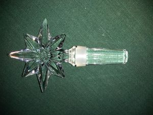 Waterford Crystal Winestopper with Laser Etching for Sale in Pflugerville, TX