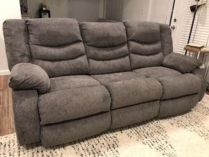Brand new very comfortable recliner plush fabric sofa for Sale in Peoria, AZ