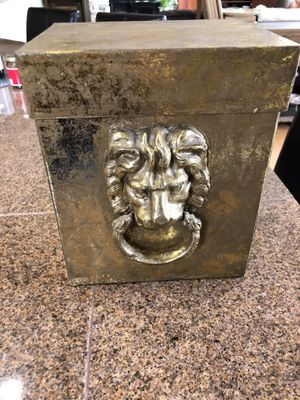 Gold Leaf Lyon Decorative Box $10 very elegant for Sale in Davis, CA