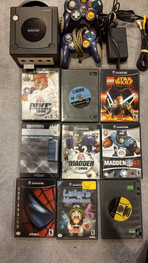 Nintendo Gamecube with 2 Controllers, and 9 Games
