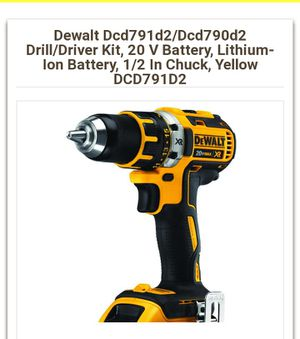 Dewalt drill drive set XR for Sale in Tacoma, WA