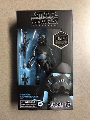 Shadow Stormtrooper Black Series Star Wars GameStop Exclusive Gaming Greats *BRAND NEW SEALED* Action Figure Collectible E9622 Hasbro Disney for Sale in Addison, TX