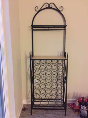 Rod iron custom wine rack and bar - price reduced! for Sale in Atlanta, GA