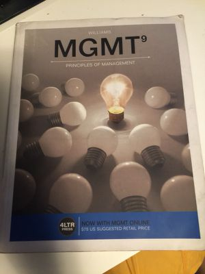 MGMT principles of management business for Sale in Portland, OR