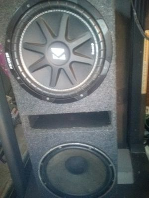 Two 12-inch kickers one off brand in the box for Sale in Fort Smith, AR