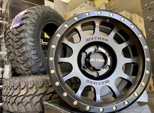 """17"""" METHOD WHEELS PACKAGE Buy Now - Pay Later👍 17"""" NV Rims (Matte Black) 265/70R17 CrossLeader MT Tires Brand New - In Stock Now Package Only $1299 for Sale in La Habra Heights, CA"""