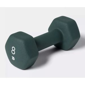 All In Motion Single 8lb Neoprene Dumbbell Green NEW Fitness Gym Weight Training for Sale in Montebello, CA