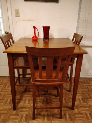 """Nice solid wood dining table with 3 chairs in good condition. L38""""*W38""""*H38"""" for Sale in Annandale, VA"""