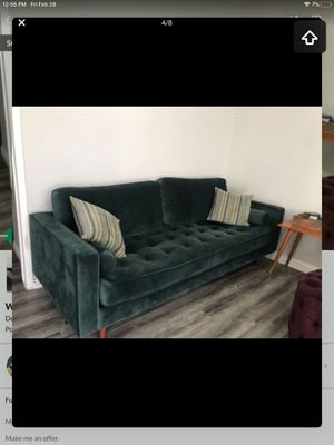 Wayfair Derry Sofa Velvet Green for Sale in Commerce, CA
