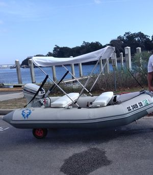 Pimped out inflatable boat and motorloaded-$1500 OBO for Sale in Windermere, FL