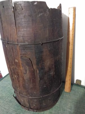 Rustic primitive nail barrel. Oldest one I have ever had. for Sale in Pittsburgh, PA