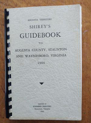 Shirley's Guidebook to Augusta County, Staunton, Waynesboro for Sale in Fort Defiance, VA