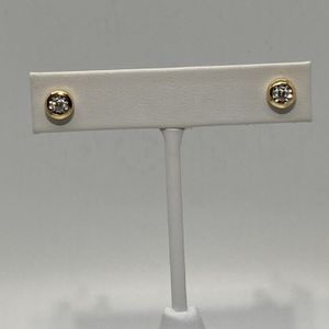 14K Yellow Gold Diamond Earrings for Sale in Los Angeles, CA