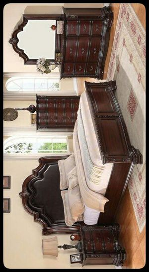 ✔QUALITY✔ Sheffield Espresso Panel Bedroom Set [FREE CHEST] for Sale in Hyattsville, MD