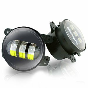 TURBOSII 30W Front Bumper Lights 4 inch Round Led Fog Lights Offroad LED IP 67 Lights for Sahara Rubicon Ford Subaru Impreza Willy's Jeep Wrangler for Sale in Ontario, CA