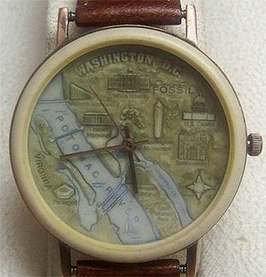 Fossil Watch Vintage Mens BW6748 Washington D.C. Map for Sale in Silver Spring, MD