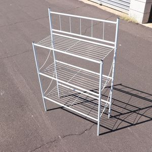 "9.5""'x23"" & 29"" Tall Metal White Storage Shelves Display Rack - B018CX for Sale in Mesa, AZ"