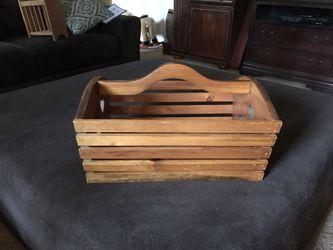 Magazine rack wood for Sale in Lilburn,  GA
