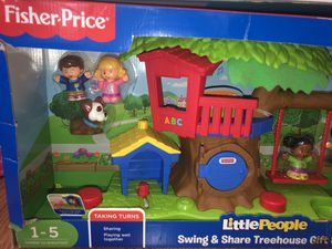 Fisher Price: Little People Swing & Share Treehouse Gift Set for Sale in Charlotte, NC