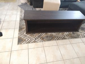 Brown Wall-mountable TV console table / bookshelf with storage from IKEA Markor collection for Sale in Boca Raton, FL