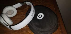 BEATS Headphones with case..White.. Used once for Sale in Columbus, OH