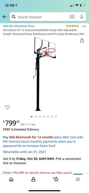 Silverback Basketball Hoop (In ground) BRAND NEW for Sale in Surprise, AZ