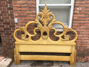 Antique Wood Full Size Bed Headboard for Sale in The Bronx, NY