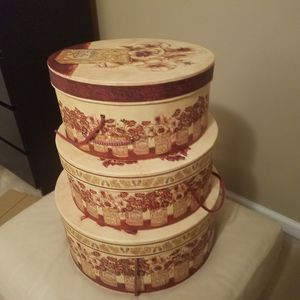 Set of 3 storage decorative container for Sale in Leesburg, VA