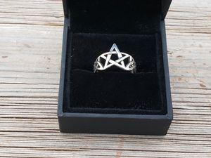 Sterling silver 925 pentagram ring size 8.5 for Sale in Scottsdale, AZ