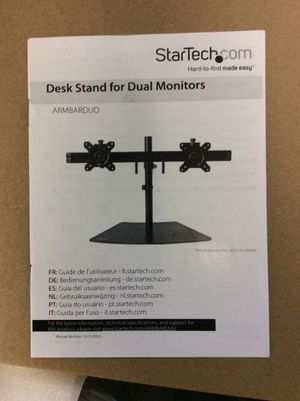 Desk stand for dual monitors for Sale in Las Vegas, NV