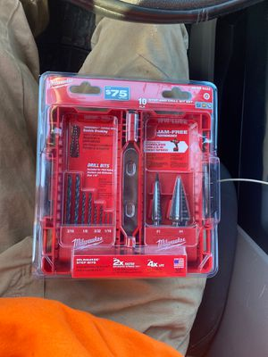 Milwaukee Step and drill bit set for Sale in Catonsville, MD