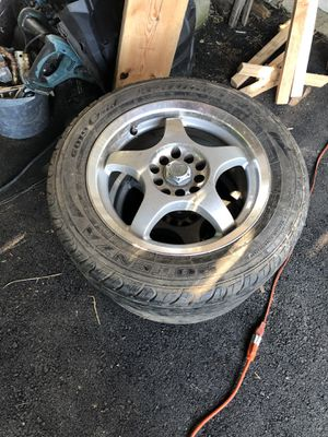 4 rims and tires for a 2000 Toyota celica for Sale in Wolcott, CT