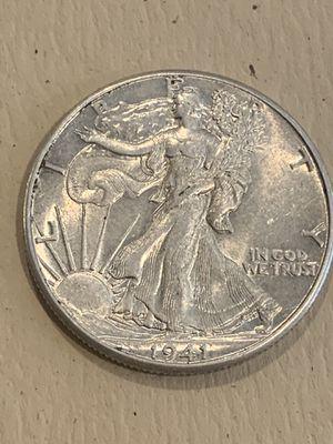 1941 Silver Walking Liberty Half-Dollar for Sale in San Jose, CA