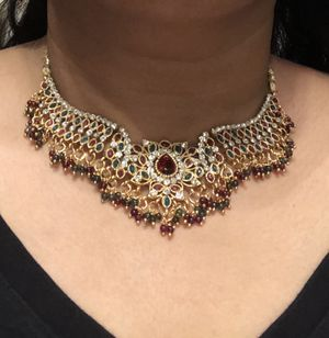 Necklace, Earrings & Bindi formal jewelry with head piece full neck for Sale in Chicago, IL