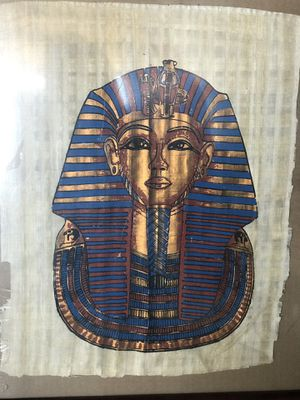 Egyptian painting on papyrus for Sale in Hawthorne, CA