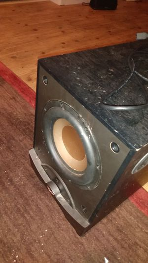 80$ Klipsch subwoofer for sale available for pickup good condition for Sale in Denver, CO