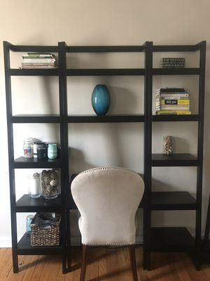 """Sawyer Mocha Leaning Desk with Two 18"""" Bookcases for Sale in Roselle Park, NJ"""