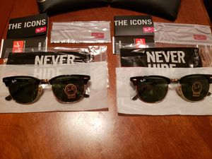 (2) Authentic Brand New Rayban Clubmaster Sunglasses (Read Description) for Sale in Fresno, CA