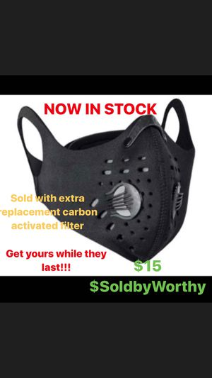 Neoprene Facemask with Activated Carbon Filter for Sale in Charlotte, NC