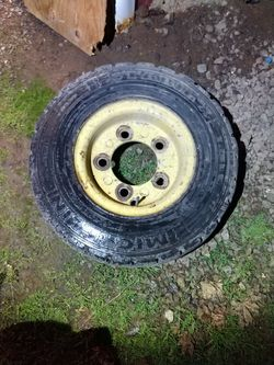 Forklift Rim And Tire Good Condition, Holds Air for Sale in Vancouver,  WA