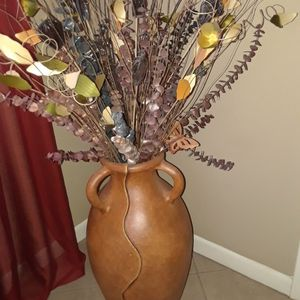 Beautiful Floor Vase With Flowers for Sale in West Palm Beach, FL