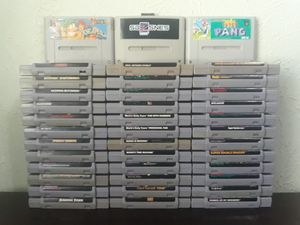 SNES Super Nintendo Games (Read Description Below) for Sale in Irving, TX