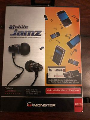 Monster Beats Mobile Jamz in ear headphones earbuds - brand new, paid $100! Better sound quality than wireless Apple airpods! for Sale in Vista, CA