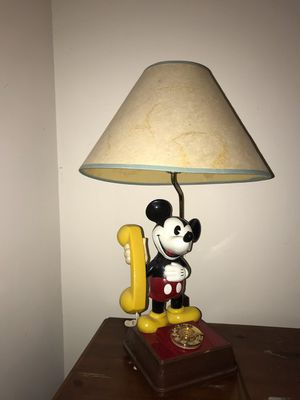 Vintage Disney mickey mouse lamp/phone for Sale in Arlington, VA