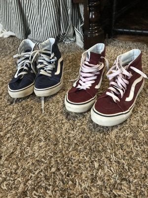 Blue and maroon high top vans for Sale in Norman, OK