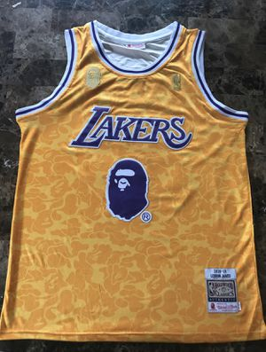 LAKERS BAPE JERSEY for Sale in Moreno Valley, CA