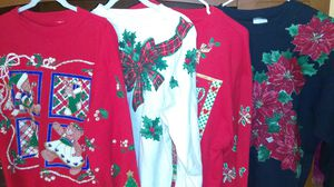 Adult M L Ugly Christmas sweater sweatshirt $10 each for Sale for sale  Whittier, CA