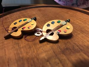 Set of Adorable all Wooden&Painted Painters pins for Sale in Gainesville, VA