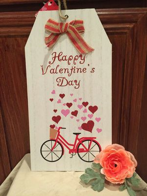 """""""Happy Valentine's Day"""" Red bicycle With Heart Sign for Sale in Fontana, CA"""