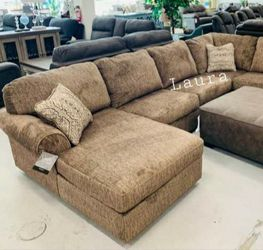 🧃same DAY free delivery 🐾 Hoylake Chocolate LAF or RAF Sectional ,sofa, couch, living room set🌾 for Sale in Bellaire,  TX